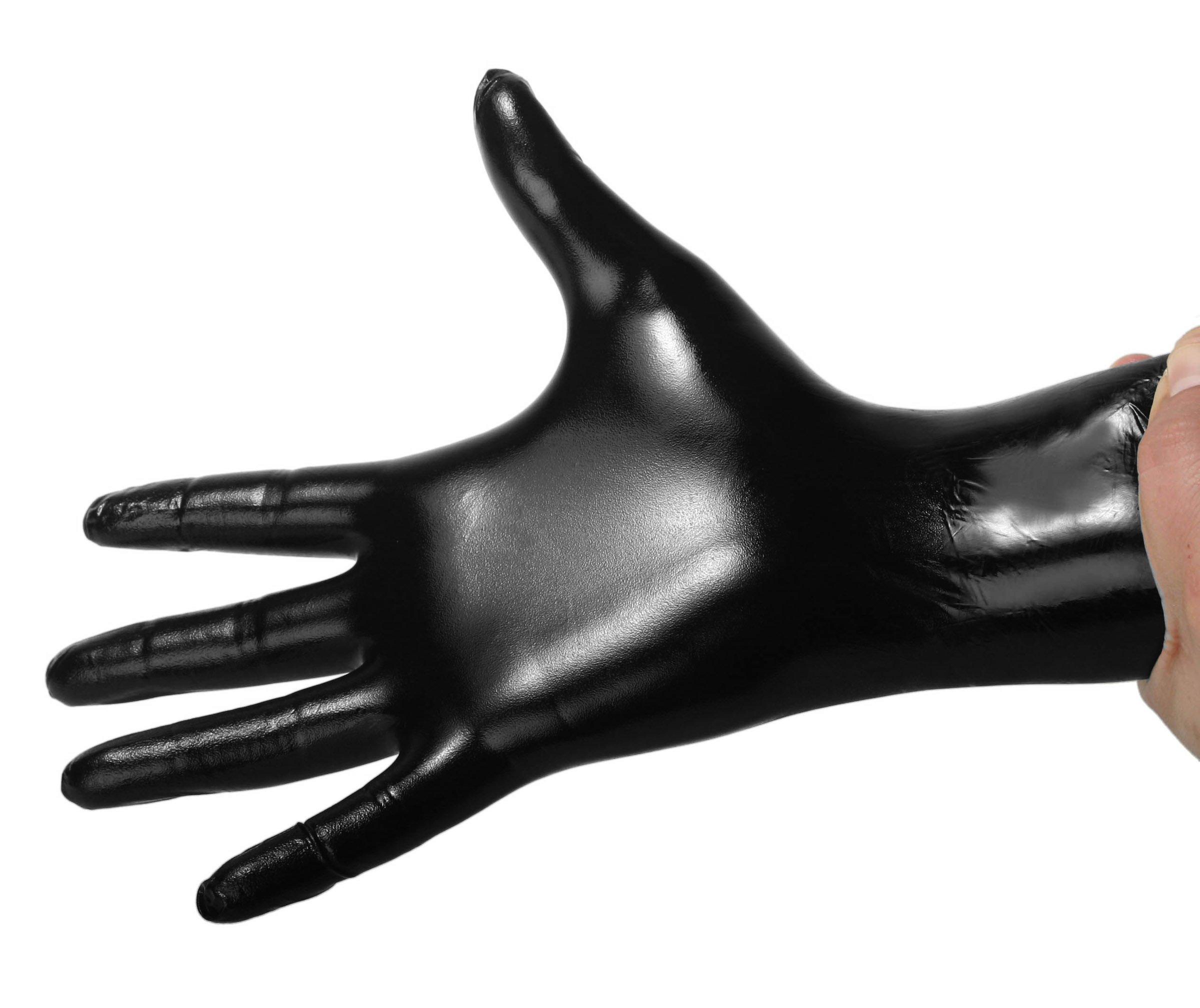 Black Nitrile Examination Gloves - Large - 100 count