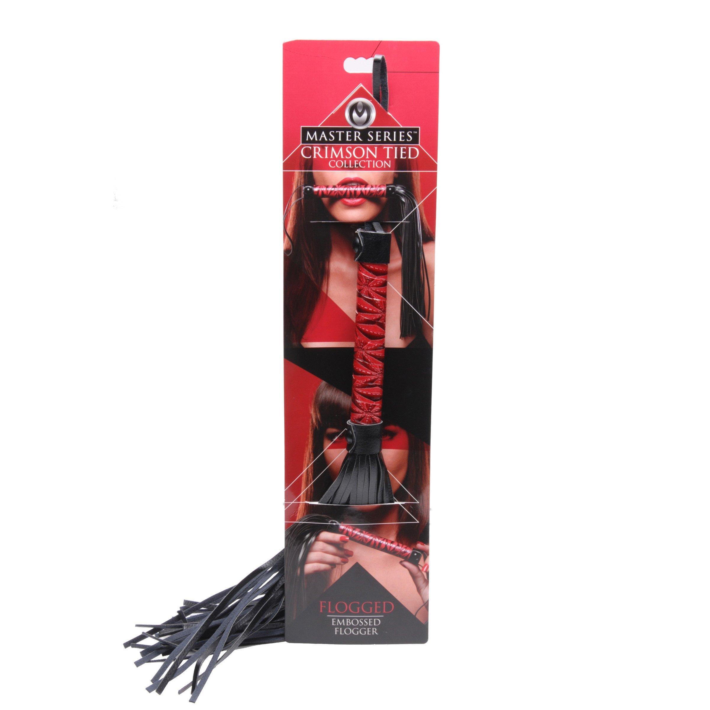 Crimson Tied Embossed Flogger