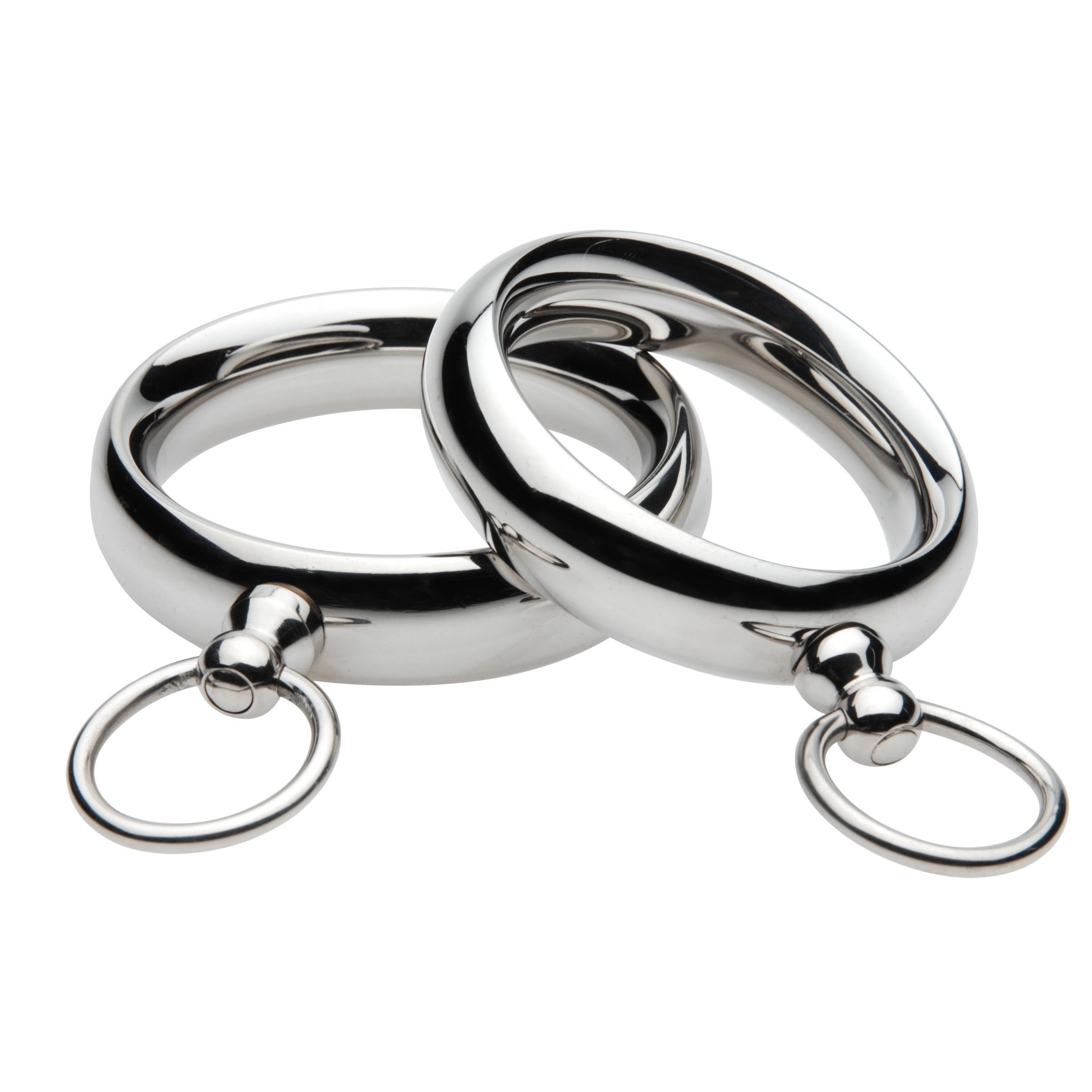 Lead Me Stainless Steel Cock Ring- 1.95 Inch